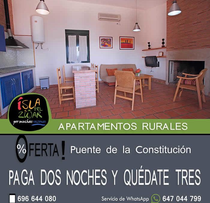 Oferta PAGA DOS NOCHES Y QUÉDATE TRES Puente de la Constitución