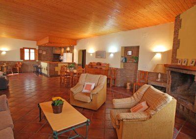 Salón comedor Habitación doble CR Isla del Zujar