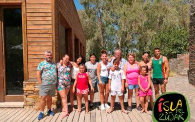 Un año más la familia Barrientos disfrutaron en la Isla del Zújar de la pesca, piragua y baño…