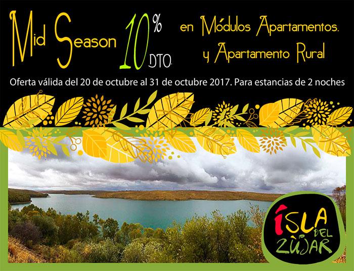 """Ven a la Isla del Zujar te ofrecemos descuento en los alojamientos """"Módulos Apartamentos y en los Apartamentos Rurales"""""""