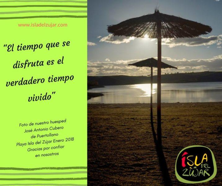 Gracias José Antonio Cubero. Playa Isla del Zújar en enero.