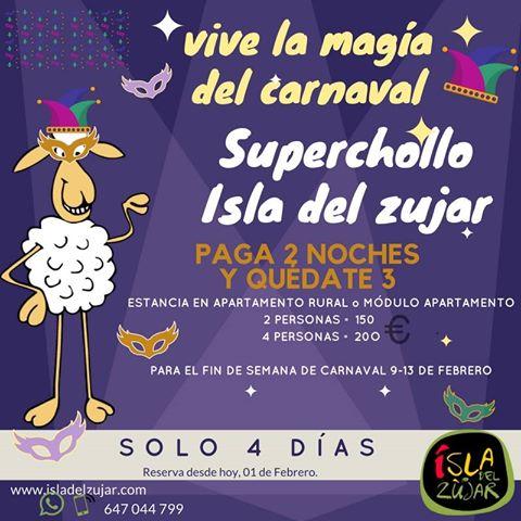 BIENVENIDO FEBRERO, mes del Carnaval ¡ paga 2 noches y quedate 3!