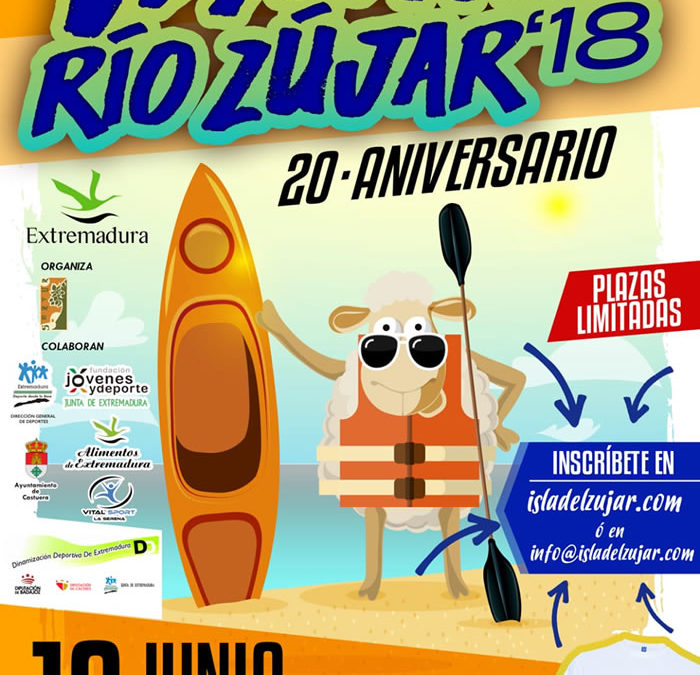 Abiertas inscripciones para el Descenso Río Zujar 2018 – 20 Aniversario