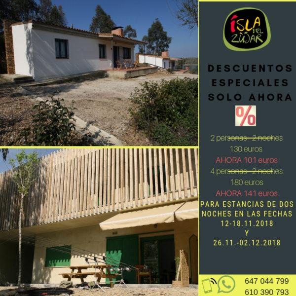 GRAN OFERTA NOVIEMBRE @ COMPLEJO ISLA DEL ZUJAR | Castuera | Extremadura | España