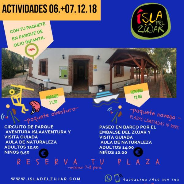 Puente de Diciembre 2018: Paquete Actividades Jueves Día 6/12 @ Complejo ISLA DEL ZÚJAR | Castuera | Extremadura | España