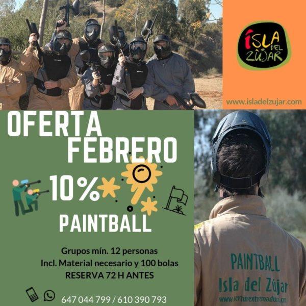 OFERTA PAINTBALL FEBRERO @ ISLA DEL ZUJAR | Castuera | Extremadura | España