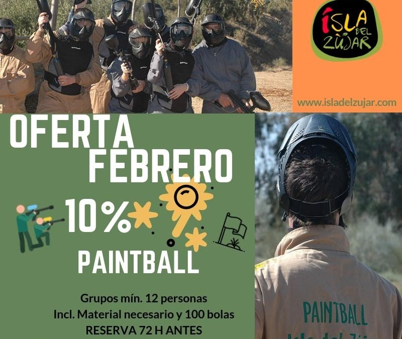 OFERTA PAINTBALL FEBRERO