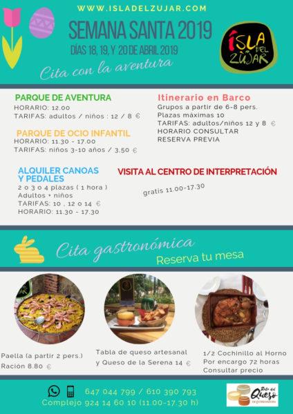 ACTIVIDADES SEMANA SANTA 2019 @ Complejo Isla del Zújar | Castuera | Extremadura | España