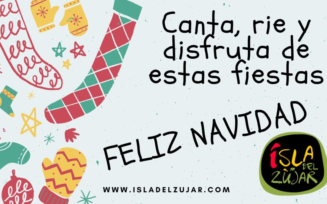 """Desde la Isla del Zújar queremos desearles a todos nuestros clientes y visitantes de nuestra web """"FELICES FIESTAS"""""""