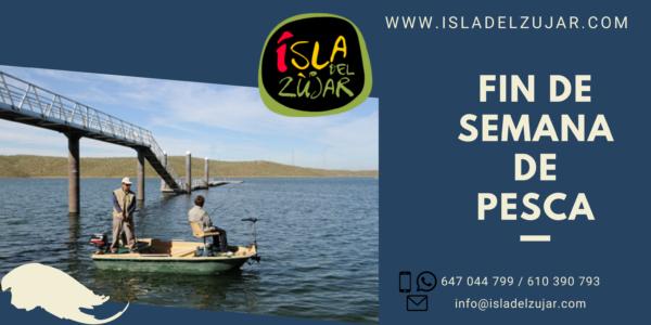 FIN DE SEMANA DE PESCA: Alojamiento + Embarcación @ Isla del Zújar | Extremadura | España