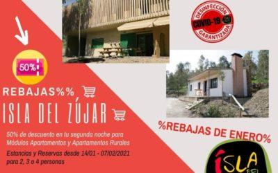 %REBAJAS DE ENERO EN ISLA DEL ZÚJAR%